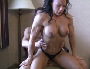 Even while she's being penetrated by a hard cock and giving a blow job