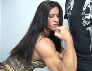 Female bodybuilder Angela Salvagno catches her stepson masturbating