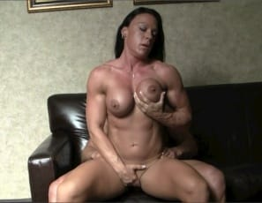 Female bodybuilder Bella gets penetrated in every position by cock