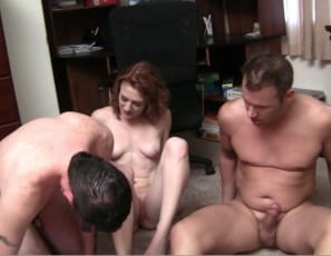 Female Muscle Porn star Lucy Fire has her guys right where she wants them