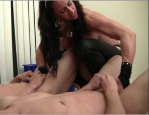 Fem domme Nikki Jackson is humiliating her houseboys, slapping them around