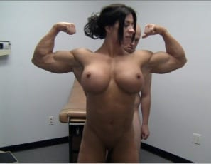 Angela Salvagno gives her new client a special workout