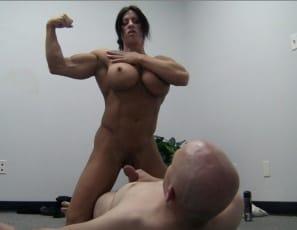 ripped, vascular female bodybuilder Angela Salvagno