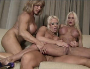 Female bodybuilders Amazon Alura, Ashlee Chambers and Wild Kat