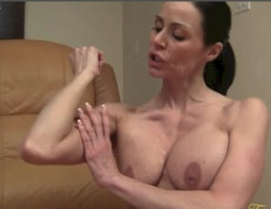 Female muscle porn star Kendra Lust is living up to her name, posing
