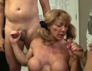 Muscular female bodybuilder Wild Kat gets payback for her Scout troop with humiliation