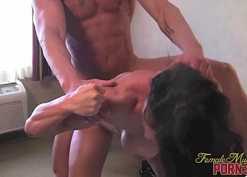 Women body builders giving blow jobs